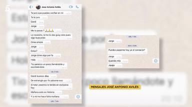 Los mensajes en los que Avilés chantajeó a un reportero de Socialité con audios de María Patiño