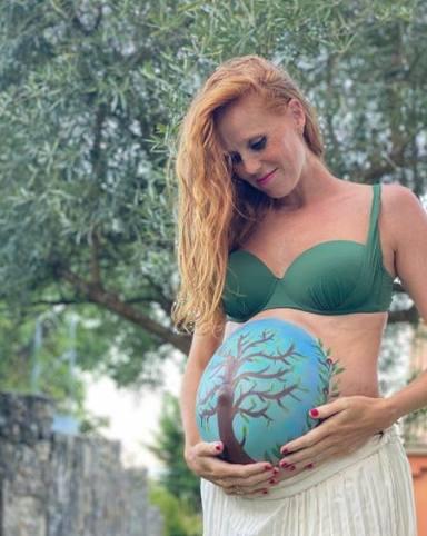 Bellypainting embarazo María Castro segunda hija Olivia