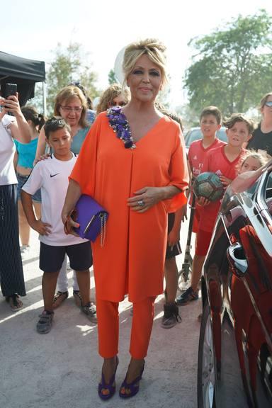 Lydia Lozano en la boda de Belén Esteban