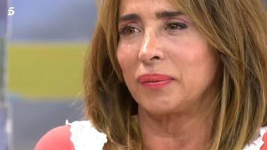 María Patiño se emociona en 'Sálvame' al hablar de su familia y del coronavirus