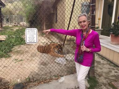 Tippi Hedren vive con 14 leones y tigres