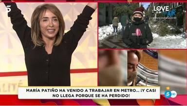 María Patiño consigue su reto de ir en metro a trabajar con la nieve