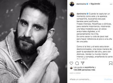 """""""No necesito la aprobación de nadie"""": la cara más real en la imagen más personal de Dani Rovira"""
