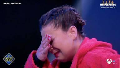 María José Campanario, rota en llanto tras realizar una de las pruebas de El Desafío