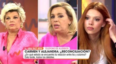 """El desplante de Terelu Campos con su hija Alejandra Rubio tras su bronca con Carmen Borrego: """"Ni de broma"""""""