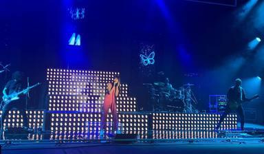 Aitana durante la presentación de 11 Razones Tour ante la prensa