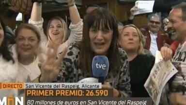 Natalia Escudero, la reportera de TVE a la que le ha tocado 'El Gordo' y lo ha celebrado a lo grande