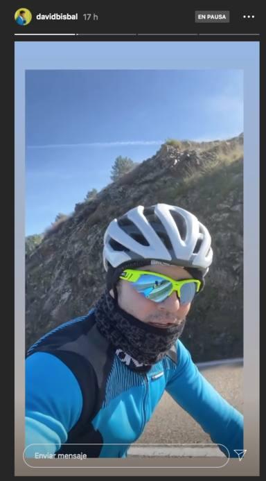 David Bisbal en bici