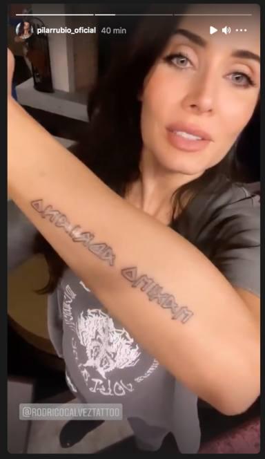 El nuevo tatuaje de Pilar Rubio