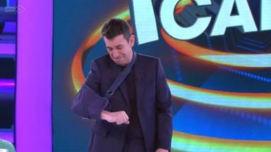 Arturo Valls en el plató de Ahora caigo, espacio que Antena 3 ha decidido cancelar