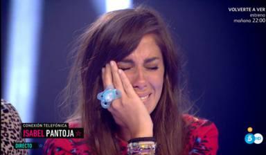 Anabel Pantoja llora al escuchar a su tía, Isabel Pantoja, en una llamada