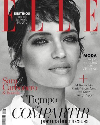 Sara Carbonero portada de julio ELLE