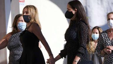Ana Obregón reaparece para despedir a su hijo en una misa funeral rodeada de familia y amigos
