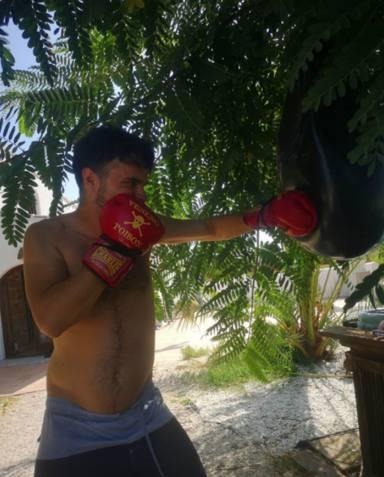 Duarte Falcó practica boxeo