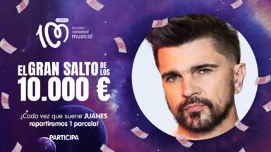 Juanes, ¡artista del día en El Gran Salto de los 10.000 euros de CADENA 100!