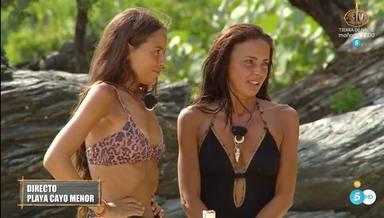 Olga Moreno junto a Melyssa Pinto en una imagen de Supervivientes, donde parecen haber trabado amistad
