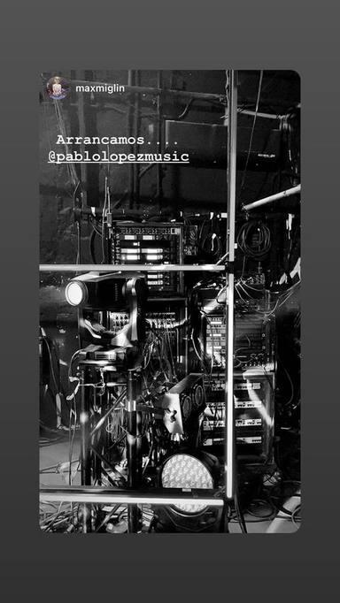 Imagen de los momentos previos al concierto compartida por Pablo López en Instagram