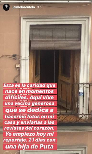 La denuncia de Jaime Lorente en redes sociales