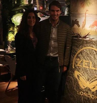 Rafa Nadal y su mujer Mery Perelló en una de las pocas fotos que tienen juntos en las redes