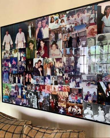 Collage de fotos familiares de Isabel Preysler