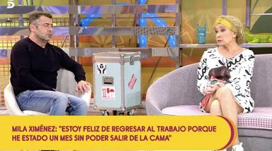 Mila Ximénez junto a Jorge Javier Vázquez durante su dura reflexión sobre la muerte