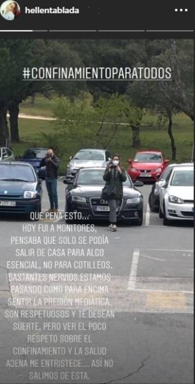 Elena Tablada, muy enfadada al descubrir que la prensa le persigue al ir a una revisión al hospital