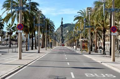 El trànsit de sortida de Barcelona baixa