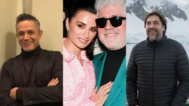 Alejandro Sanz, Penelope Cruz, Javier Bardem y Pedro Almodovar donan mascarillas