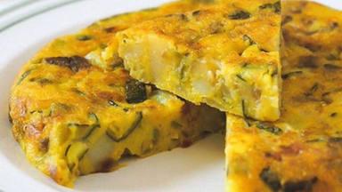 Tortilla de patatas campera sin huevo