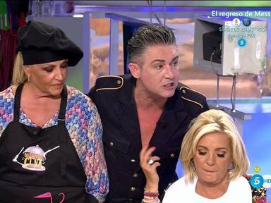 Ángel Garó junto a Lydia Lozano y Carmen Borrego en La última cena