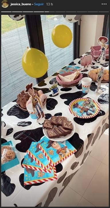 La fiesta que le ha preparado Jessica Bueno a su hijo Jota jr