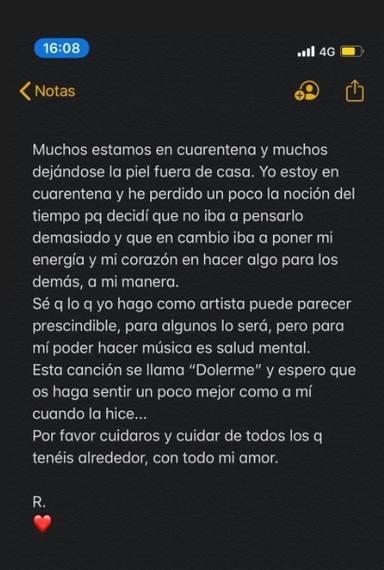Comunicado oficial de Rosalía sobre su nueva canción