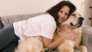 Jessica Bueno en casa con su perrete