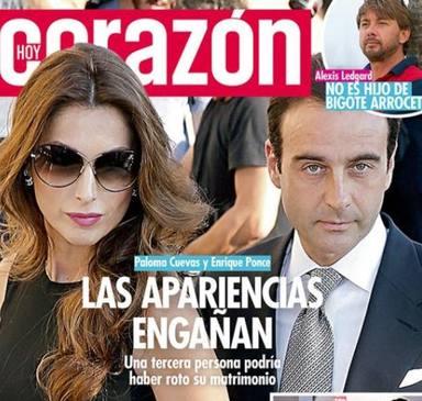 La prensa del corazón impactada con la separación de Ponce y Cuevas