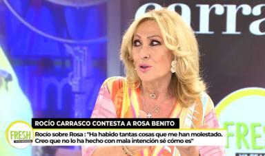 """Rosa Benito carga contra 'Sálvame' tras el fichaje de Rocío Carrasco: """"Que no me busquen, que me encuentran"""""""