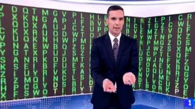Lluís Guilera en el telediario del fin de semana de La 1 de TVE