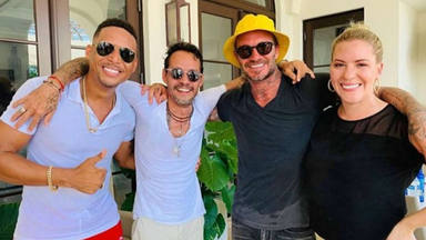Beckham y Marc Anthony