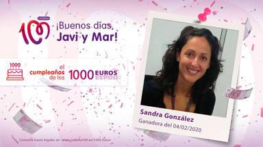¡Sandra González Moles ha ganado 1.000 euros!