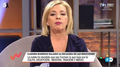 Carmen Borrego se sincera en la escalera de las emociones de Viva la vida