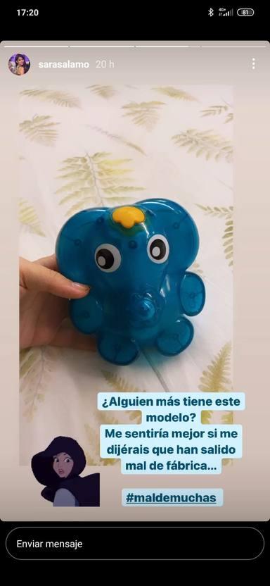 Sara Sálamo pregunta a sus seguidores por el juguete