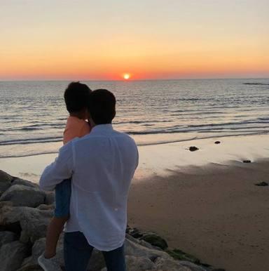 La felicitación de Alberto Isla a su hijo