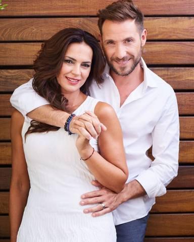 Antonio David Flores y su mujer Olga Moreno