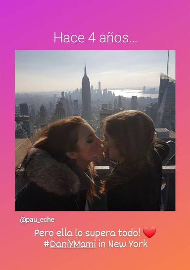 Paula Echevarría con su hija en Nueva York