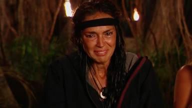 Olga Moreno durante uno de sus bajones anímicos en Supervivientes 2021