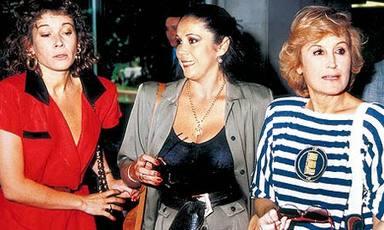 Mila Ximénez junto a Isabel Pantoja y Encarna Sánchez