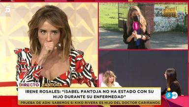 El preocupante ataque de tos de María Patiño en Socialité