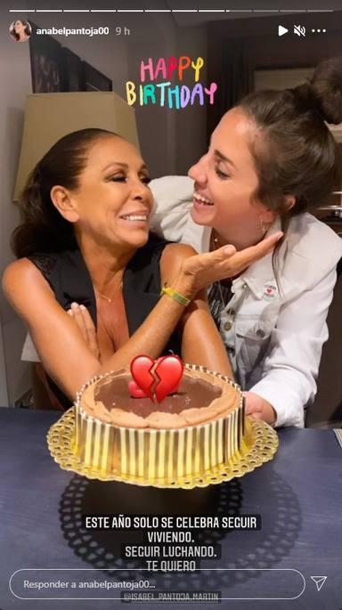 Anabel Pantoja felicita a su tía Isabel públicamente por su cumpleaños y se posiciona en la guerra de Cantora
