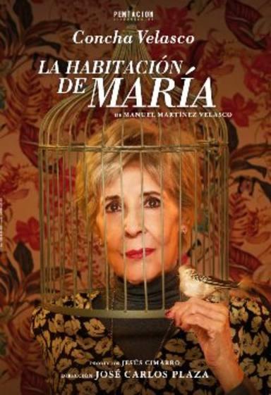 Cartel de La habitación de María, obra de teatro protagonizada por Concha Velasco