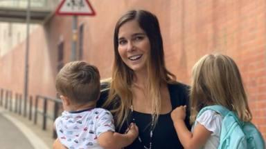 Los sentimientos de Natalia Sánchez con la vuelta al cole de sus hijos