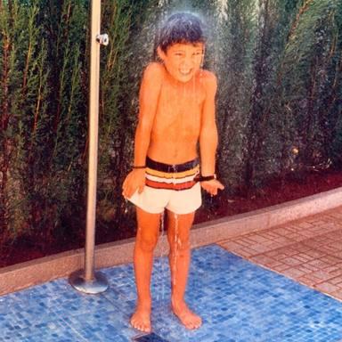 Miguel Ángel Silvestre de pequeño